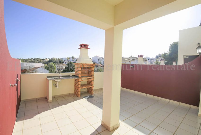 2 Bedroom Duplex apartment in Ferragudo Algarve Portugal large terrace with barbeque area