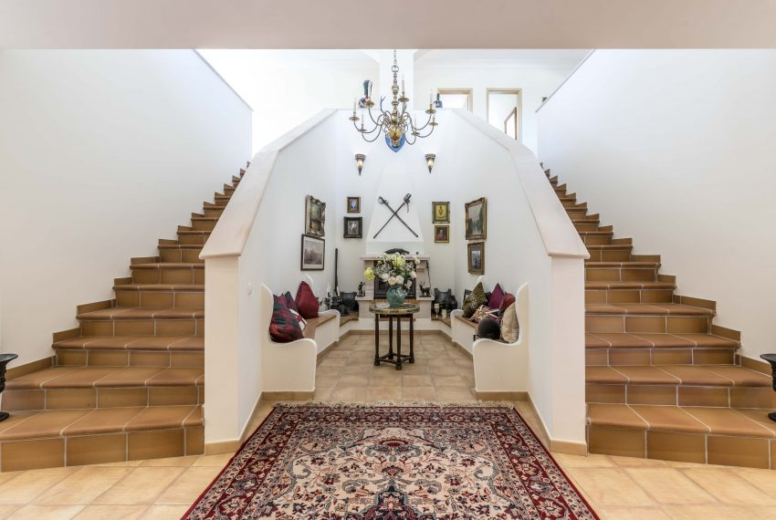 Breathtaking Sea Views Luxury 7 bedroom mansion in Porches, Enneking Real Estate grand staircase