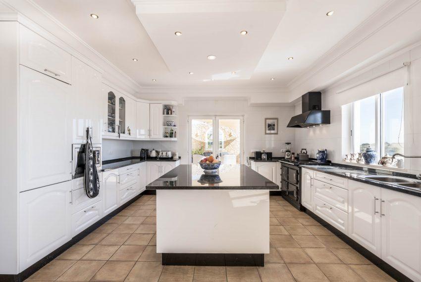Breathtaking Sea Views Luxury 7 bedroom mansion in Porches, Enneking Real Estate, kitchen