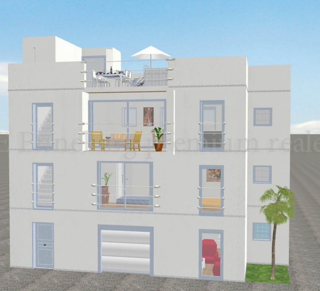 Overview of Fantastic 3 bedroom project in the centre of Ferragudo