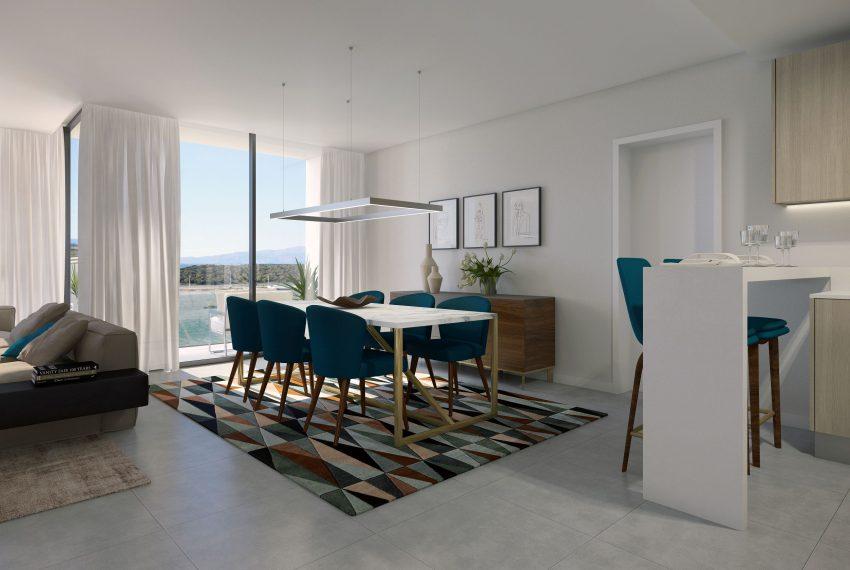 Casa do Rio complex living & dining area