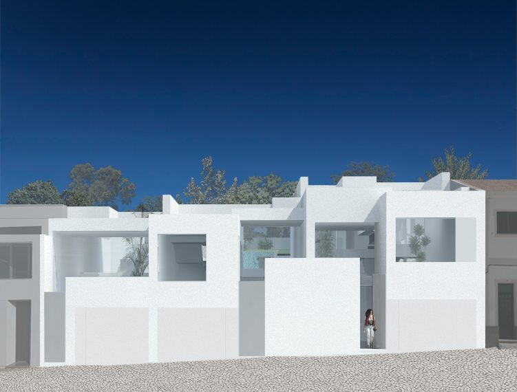 3 villa project in Ferragudo (2 or 3 bedrooms) front view