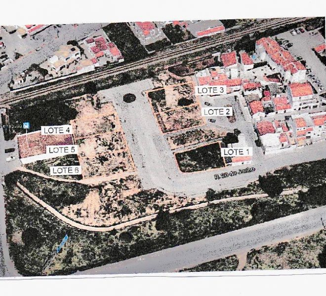 Investment opportunity of six urban plots close to the beach