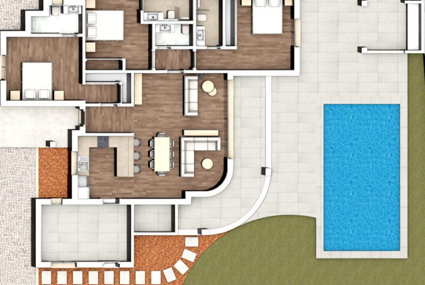 3 bedroom detached villa in Alvor layout
