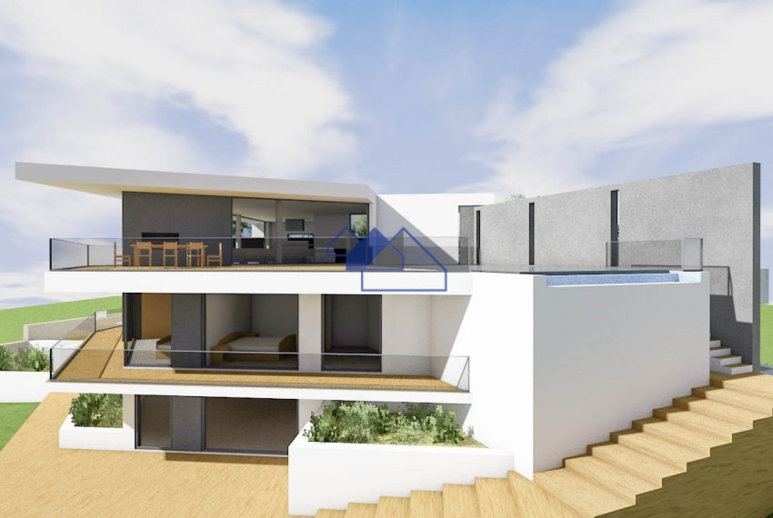 3D Image of the outstanding 4 bedroom villa with seaview