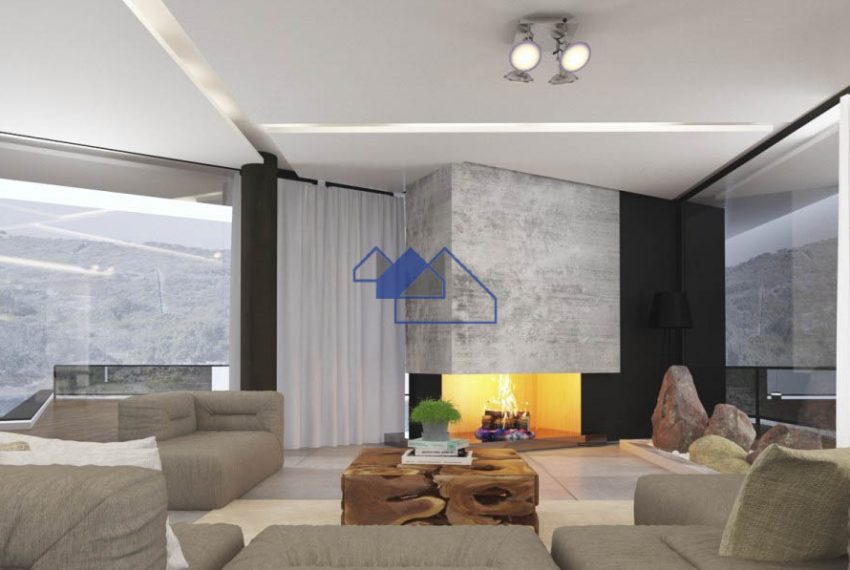 3D Image of the outstanding 4 bedroom villa with seaview -living room