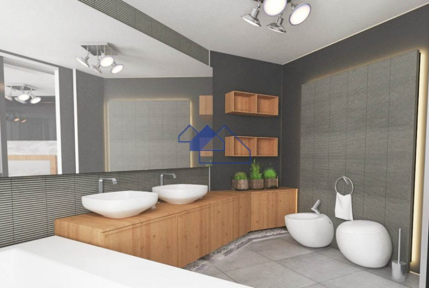 3D Image of the outstanding 4 bedroom villa with seaview - bathroom