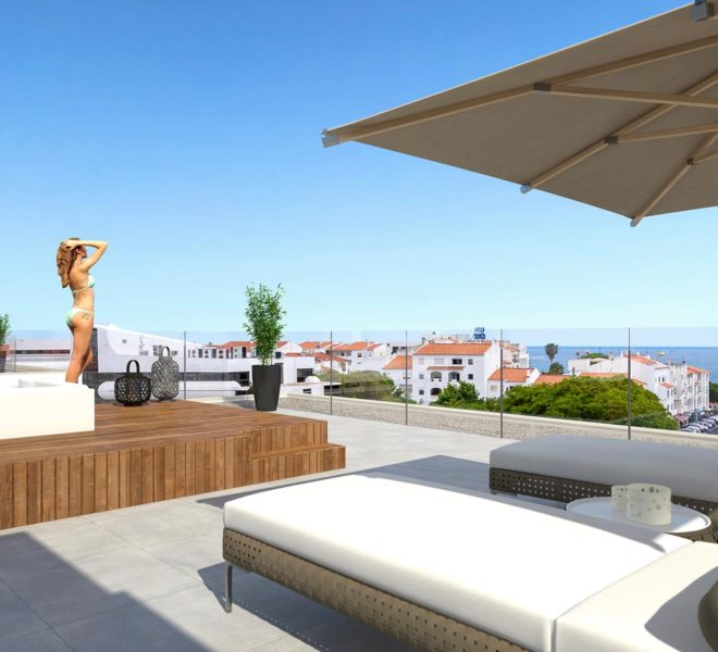 EPRE146 luxury 3 bed apartment, albufeira, beach, pool, sea view, private roof terrace